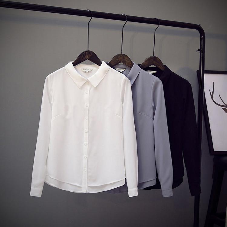常规文艺雪纺衫
