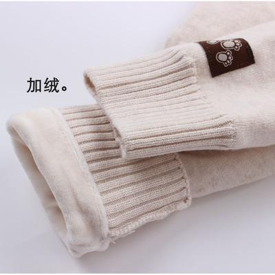 宝宝纯棉秋裤单条快活龙加厚加绒男童女童儿童线毛裤保暖内穿冬季