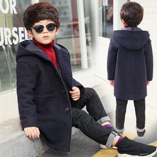 男童呢大衣外套2017新款韩版潮冬装中长款加厚儿童中大童羊毛呢子