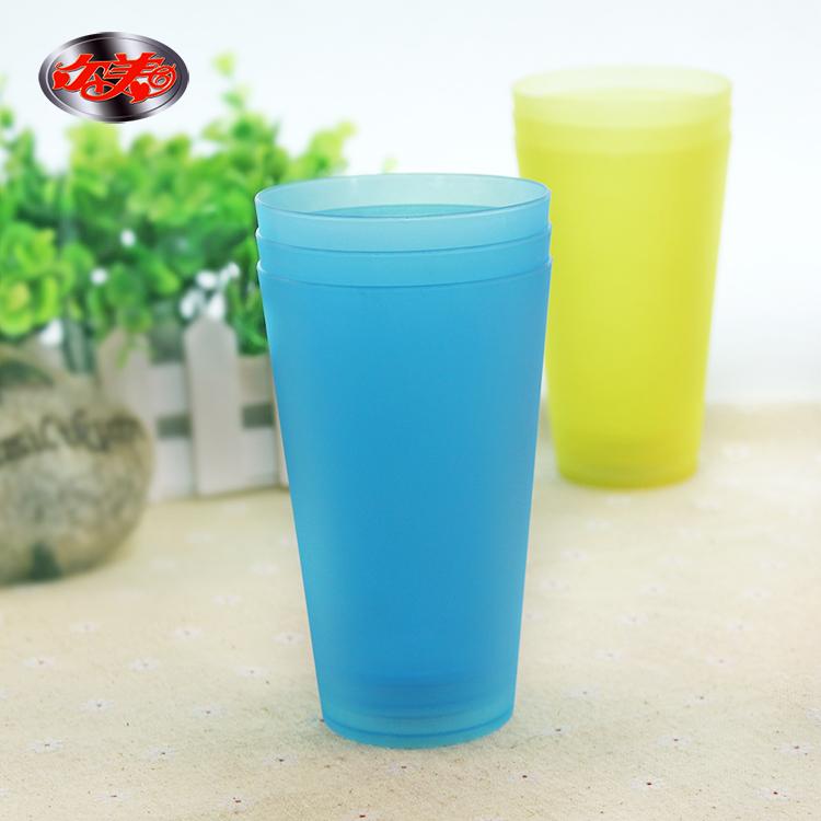 彩色塑料水杯