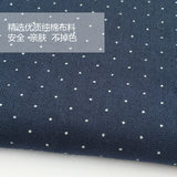 BabyP Customized Parent-Child Cotton Dark Blue and White Spot Boys'and Children's Ties