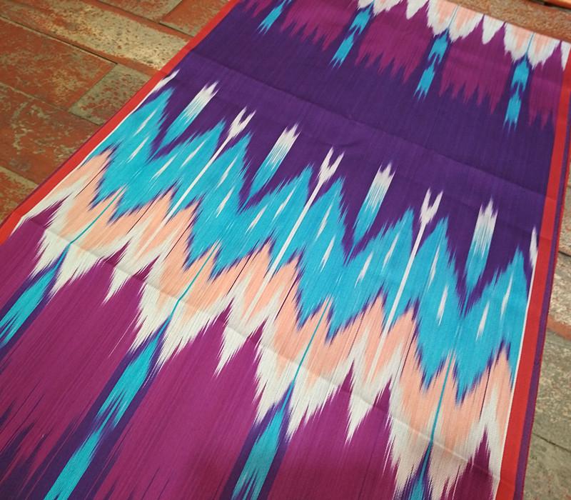 /新疆布民族服饰维吾尔族特色艾德莱斯绸布料宽幅40CM特价纯丝绸