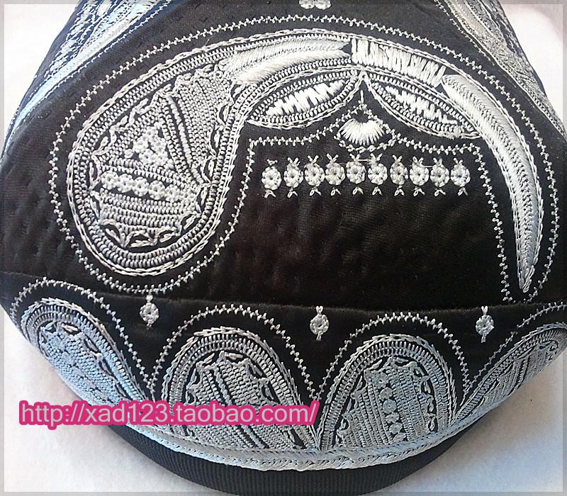 新款新疆维吾尔手工制作葫芦巴达木花帽男子帽/包邮特价