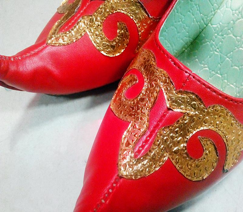 新疆特色舞蹈鞋舞台表演维吾尔族舞鞋女款民族风女鞋特价新品