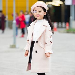 女童毛呢外套2017新款加厚冬装儿童呢子大衣公主中大童韩版宝宝妮