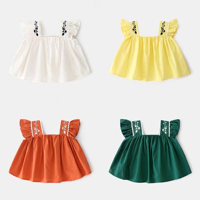 2018新款1女宝宝洋气5连衣裙子4女童婴儿背心吊带裙2夏装夏季0岁3