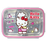Korean importle and button funt Katie cat 304 stainless steel lunch box primary school students five-point children's separated plate