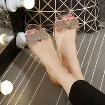 风休闲民族风ins夏季新款凉鞋女平跟拖鞋女款2018达芙妮Daphne