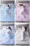 Travel partition dirty sleeping bag portable indoor double single hotel tourist hotel anti-dirty bed simple cotton