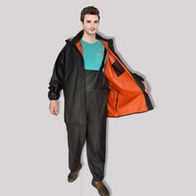 荣成耐酸碱工作服背带式分体雨衣工作煤矿橡塑PVC牛筋防防护服图片