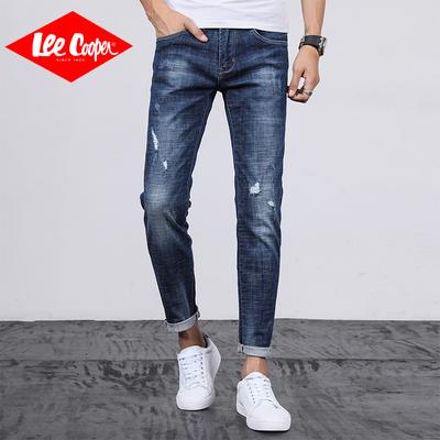 Lee Cooper牛仔裤男修身小脚韩版潮流春夏款长裤青年弹力男士裤子
