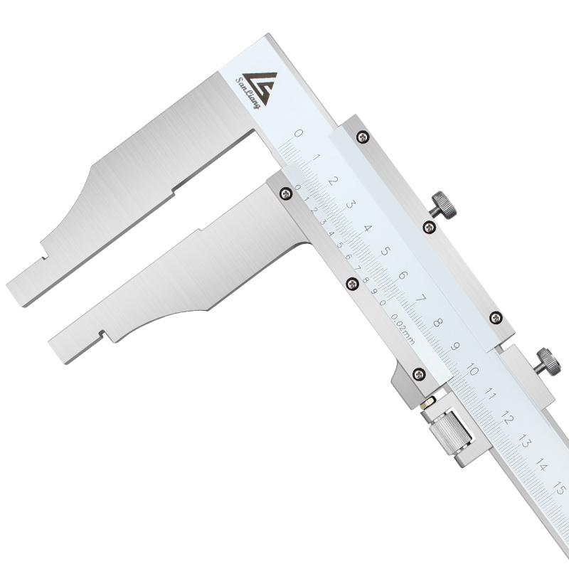 三量大量程游标卡尺0-500-600-1000mm1.5米2米高精度油标卡不锈钢