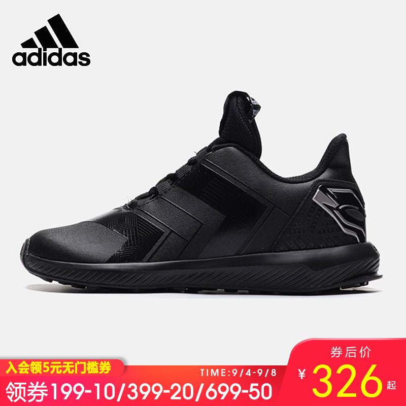 Adidas阿迪达斯跑步鞋男童鞋2019新款低帮轻便休闲运动鞋AH2451