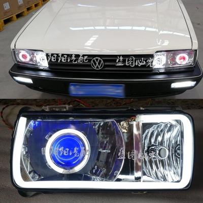 适用于桑塔纳普桑天使眼99新秀LED转向灯日行灯桑旅行车灯杠灯