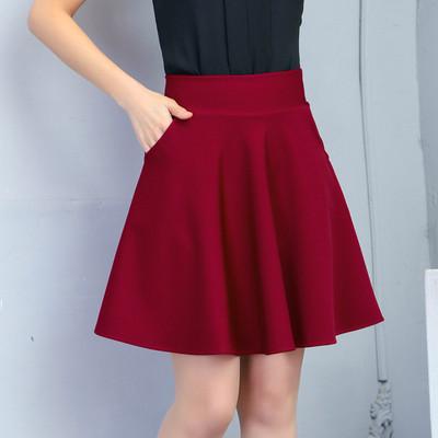广场舞裙子女半身裙水兵短裙口袋新款跳舞蹈a字大摆裙中老年舞裙
