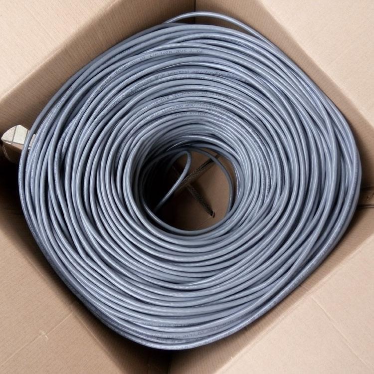 安普超五类双屏蔽SFTP抗干扰0.5全铜/纯铜网络线300米/箱双绞网线