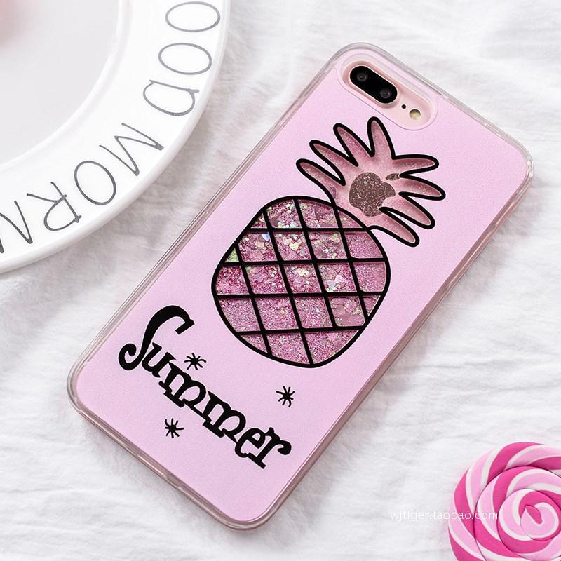流沙iphonex手机壳苹果6splus/5s火烈鸟女款7p个性潮牌可爱粉红豹