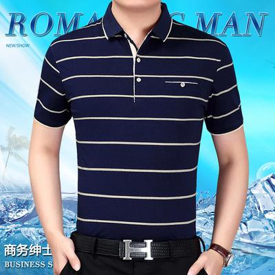 中年男士短袖t恤棉中老年夏装200斤加肥加大码短袖上衣汗衫爸爸装
