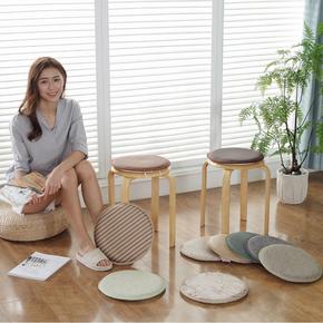 夏季海绵圆凳垫圆形椅子垫学生坐垫圆凳子套罩高脚凳椅垫儿童坐垫