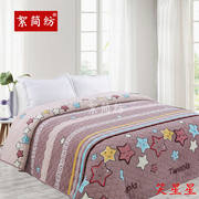 Fleece soft soft plush flannel quilting is covered by Korean velvet bed cover pad quilt warm thick sheets