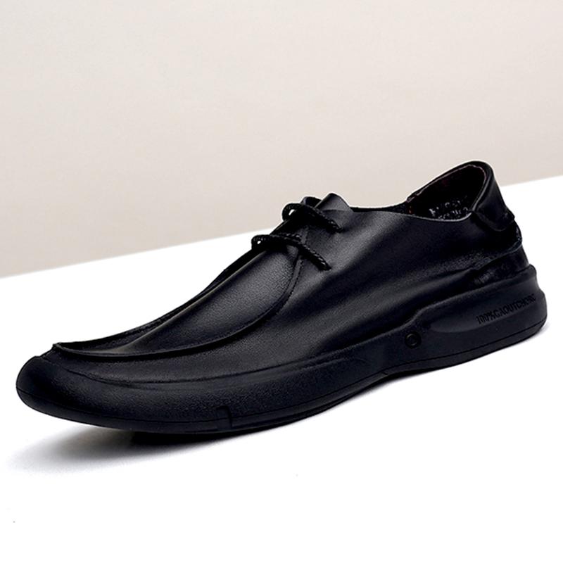 单层皮男皮鞋