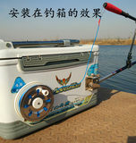 Fishing chair fishing box special lost rope 80 meters automatic fishing box type lost rope fishing rod put rod rope telescopic protection rod rope