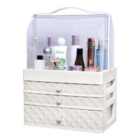 Net red cosmetics storage box home dorm desktop dressing table skin care lipstick dust-proof drawer rack