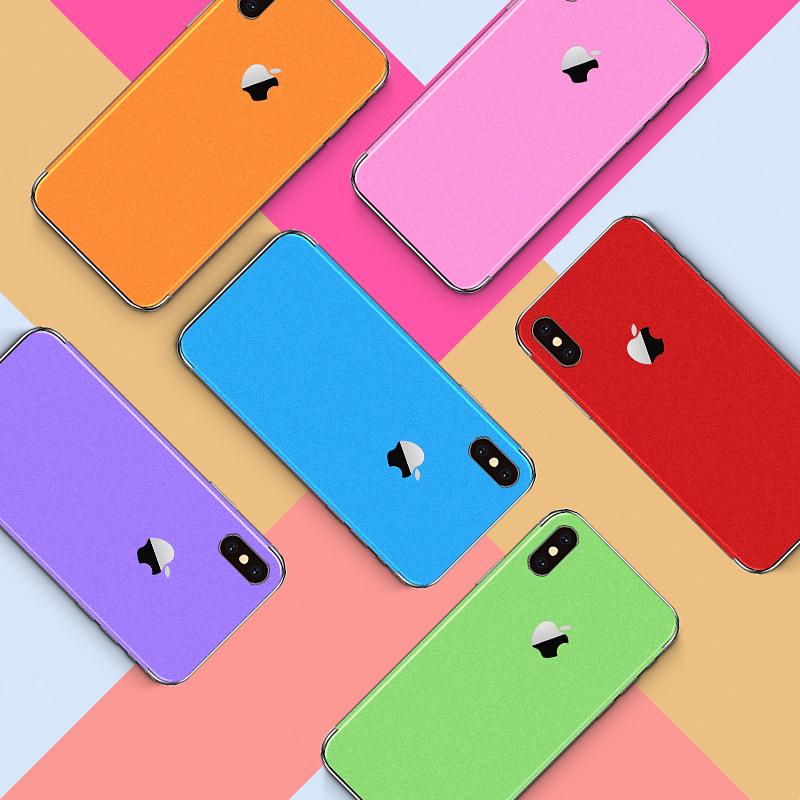 苹果iphonex手机xr贴膜xs背膜6/6splus背贴7p背面iPhone7Plus贴纸max改色8后膜全身贴8plus纯色后盖保护膜