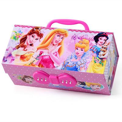 文具铅笔盒芭比公主儿童女孩密码小学生5年级1-3的带锁女童有盒子