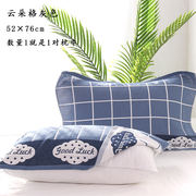 Cotton gauze pillow towel a couple of cotton pillow towel three layers of soft sweat-absorbing four seasons European high-end adults