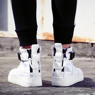 夏季小白鞋男士运动休闲透气潮鞋子韩版潮流英伦百搭高帮板鞋男鞋