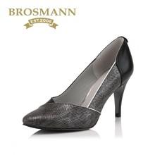 牛皮细高跟时尚 B30826 女单鞋 宝舒曼2018春夏新品 BROSMANN
