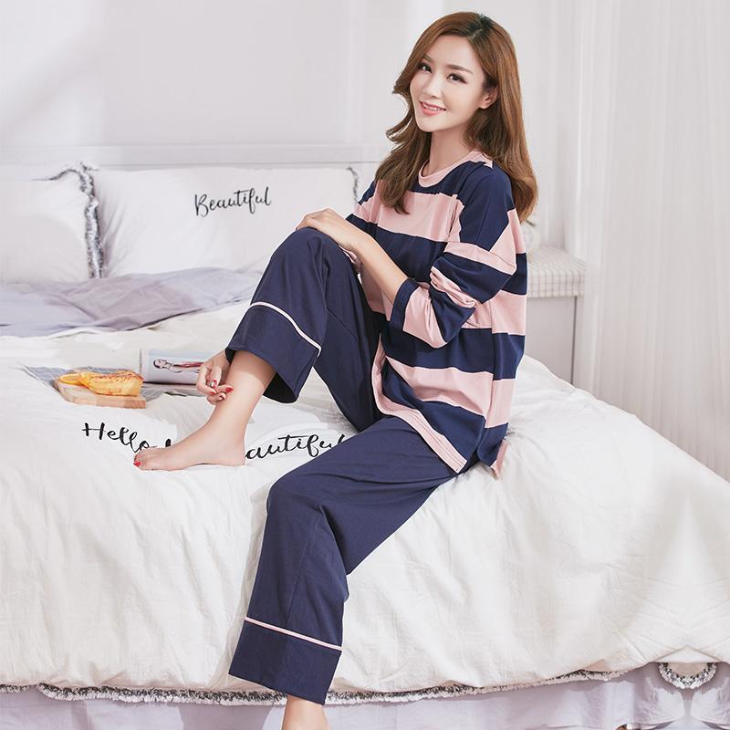 月子服春秋纯棉产后孕妇睡衣怀孕期产妇夏季薄款哺乳期喂奶衣套装