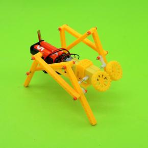 小扳手儿童手工科技小制作小发明四足爬行机器人电动拼装模型083