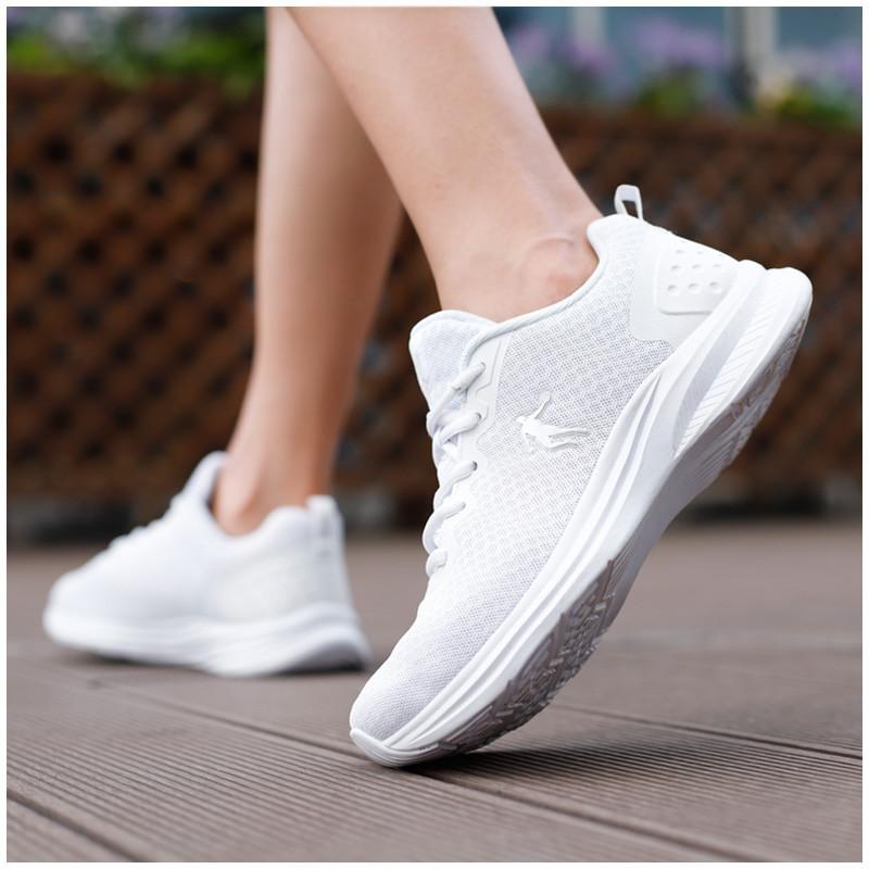 乔丹女鞋跑步鞋2018新款秋季网面透气跑鞋防臭白色女式运动鞋纯白