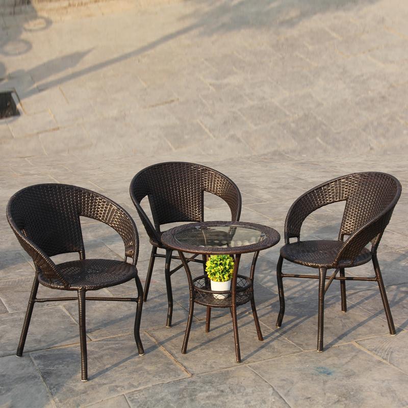 阳台桌椅组合藤编庭院