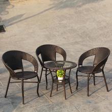 仿藤椅三件套阳台桌椅组合会客休闲椅户外藤编座椅庭院五件套特价