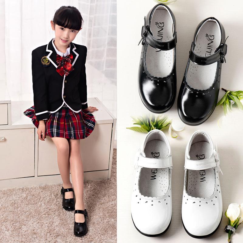 女童黑色演出皮鞋