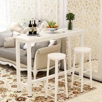 北欧小吧台桌家用隔断柜现代简约实木创意吧台柜客厅金色吧台餐桌