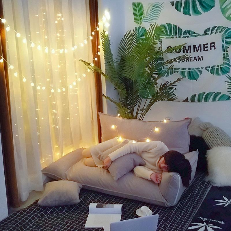 懒人沙发单双人卧室小沙发女孩榻榻米小户型可爱网红款折叠沙发床