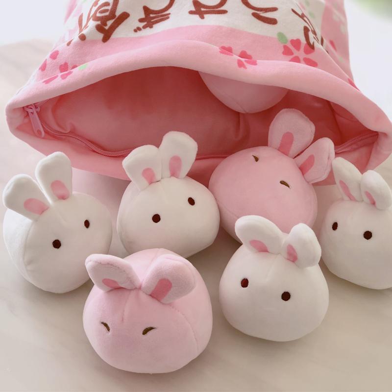 ins日本可爱小兔子毛绒玩具超软仿真创意零食抱枕网红少女心玩偶