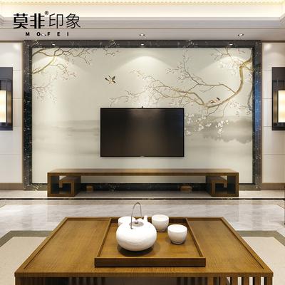 中式电视背景墙壁纸客厅怎么样