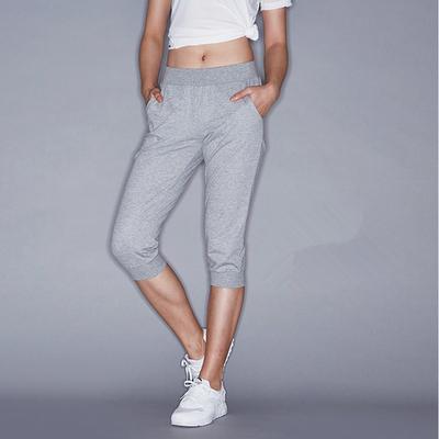 安踏七分裤女裤夏季新款针织裤收口短裤舒适运动裤七分裤