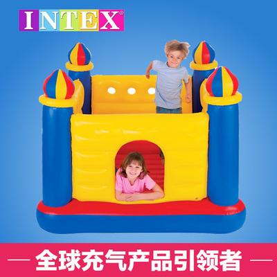 美国INTEX充气城堡室内蹦蹦床 跳跳乐 淘气堡 家用儿童玩具