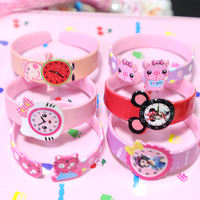 Korean version of children's girl jewelry acrylic strong pull open bracelets candy color cartoon cute princess bracelet