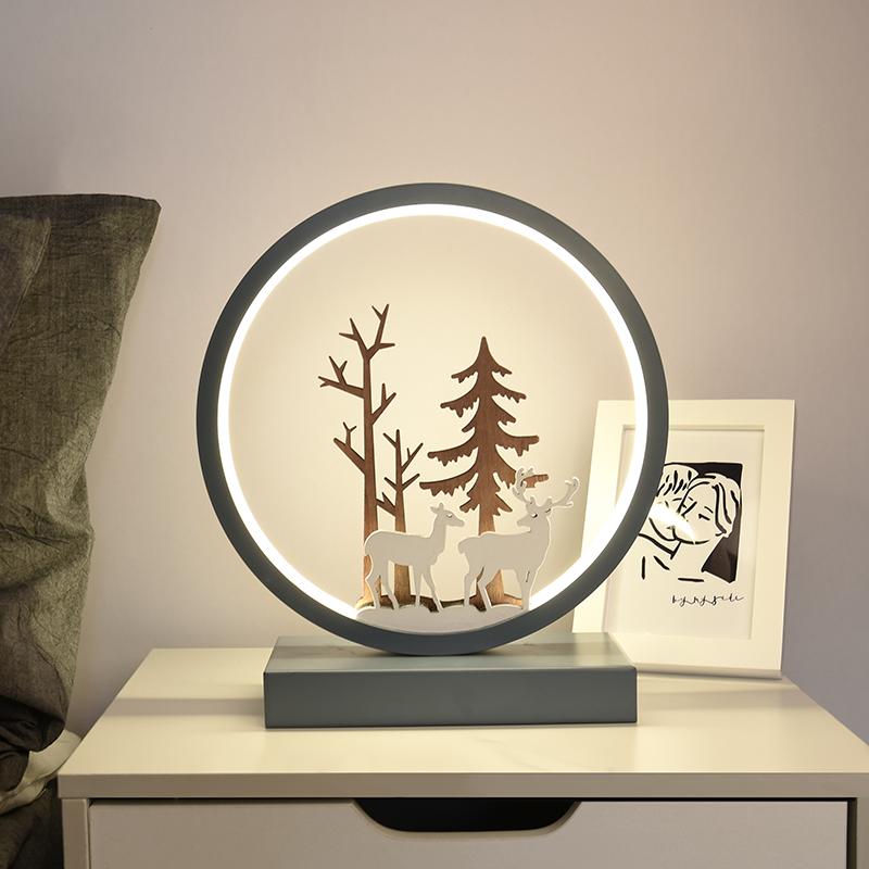 台灯卧室床头柜简约现代北欧ins创意浪漫温馨艺术装饰网红小鹿灯