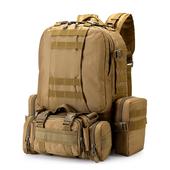 军迷户外双肩3D战术组合包大容量迷彩登山包男军用军品背包旅行包