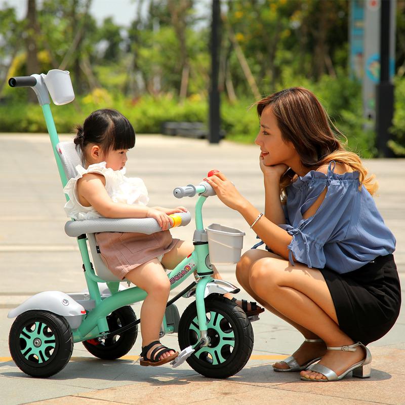 星孩儿童三轮车脚踏车1-3-2-6岁大号婴幼儿手推车宝宝自行车童车