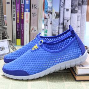夏季老北京布鞋男鞋单鞋透气网鞋平底男士凉鞋运动休闲镂空网面鞋