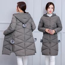 韩版 外套反季清仓女士棉衣女中长款 加厚 2018冬季女装 羽绒棉服棉袄